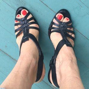 Celine black T-strap sandal